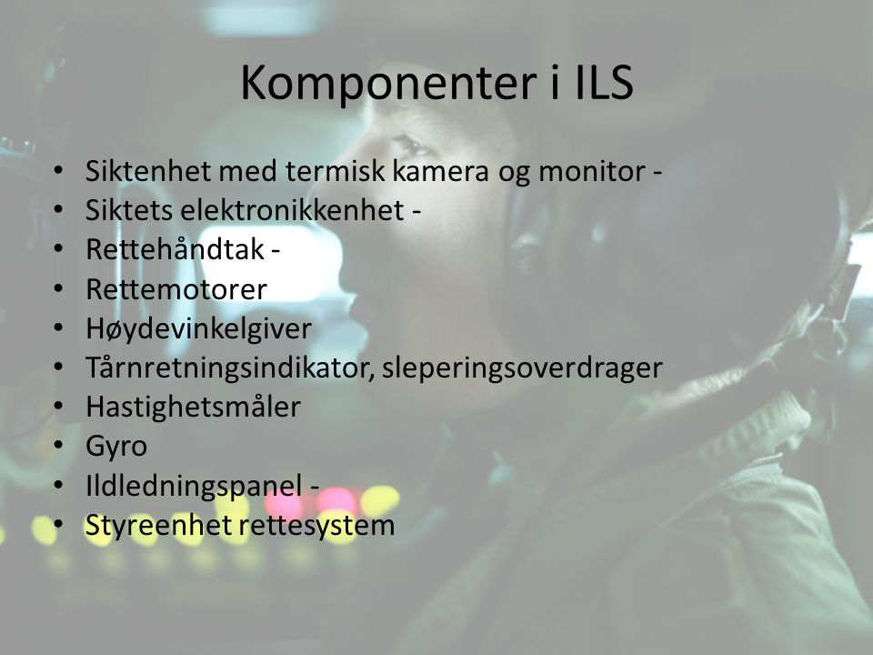 Komponenter i ILS Siktenhet med termisk kamera og monitor -