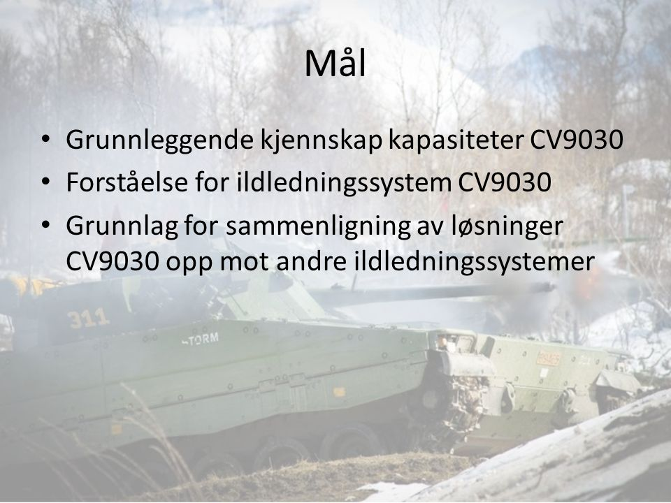 Mål Grunnleggende kjennskap kapasiteter CV9030