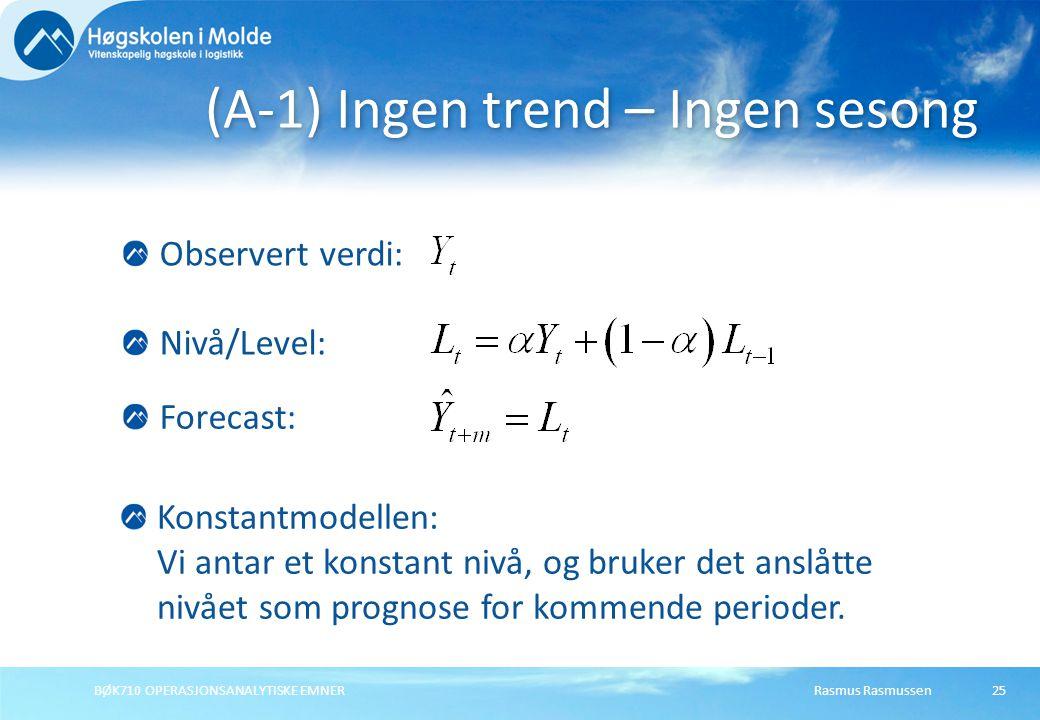 (A-1) Ingen trend – Ingen sesong