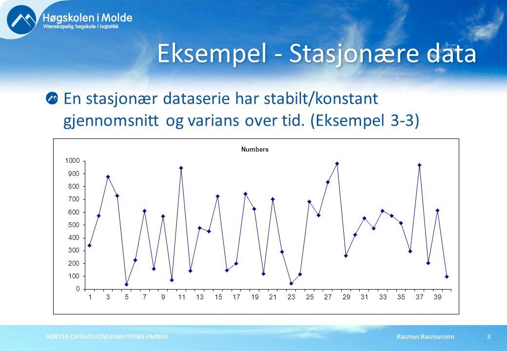 Eksempel - Stasjonære data
