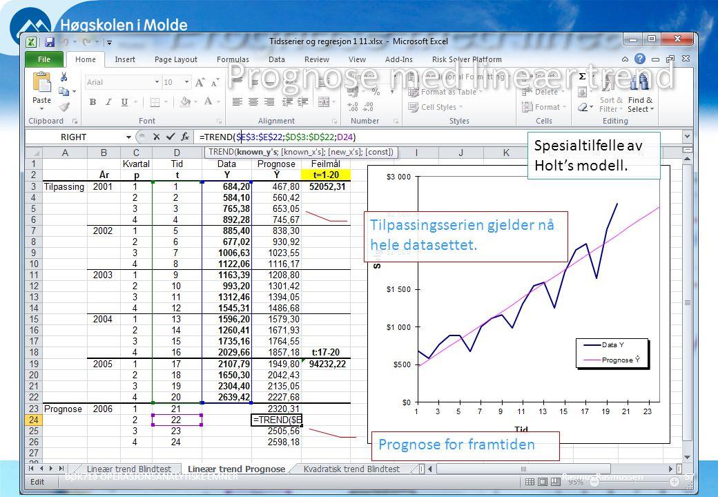 Prognose med lineær trend