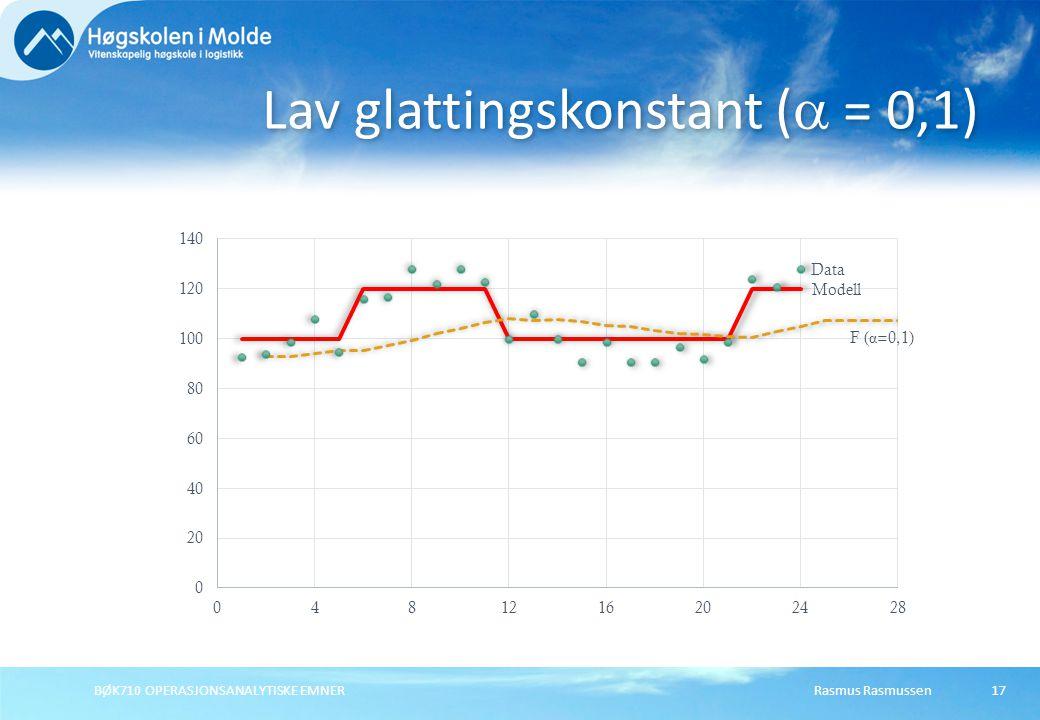 Lav glattingskonstant ( = 0,1)