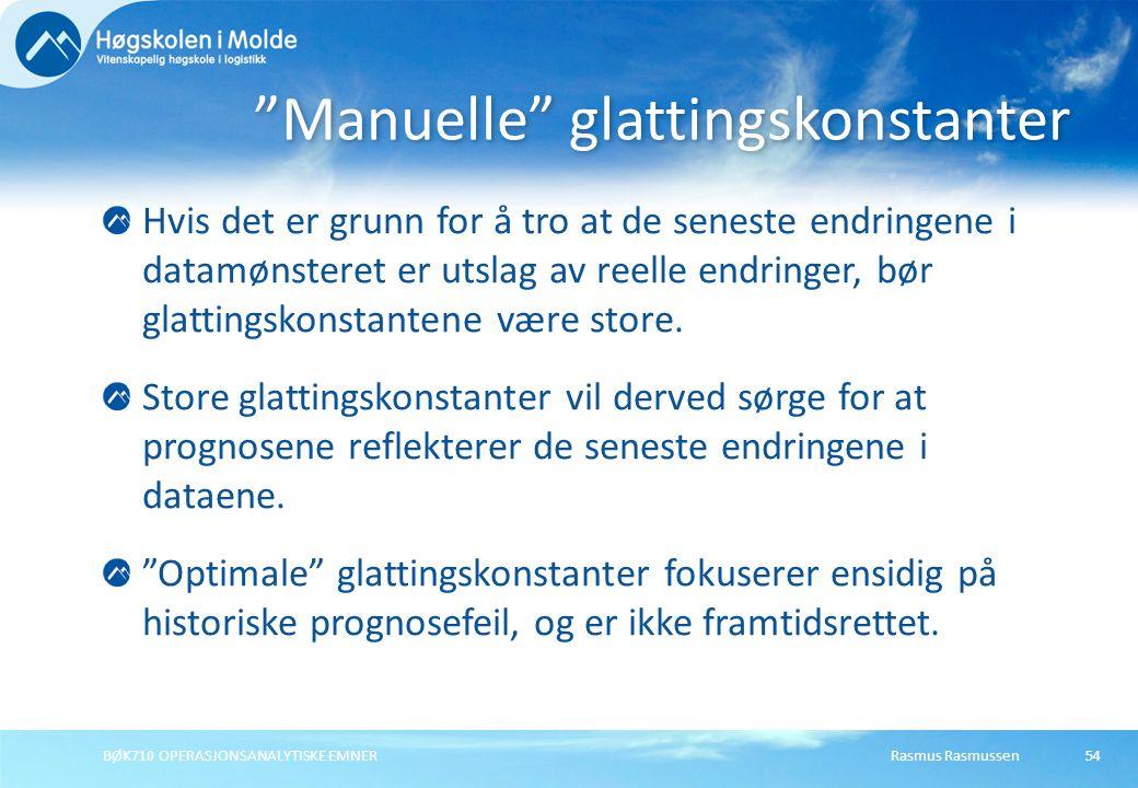 Manuelle glattingskonstanter