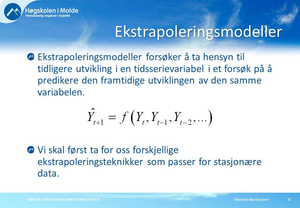 Ekstrapoleringsmodeller