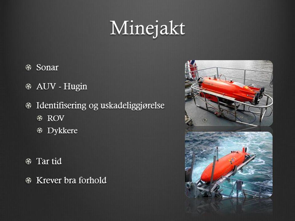 Minejakt Sonar AUV - Hugin Identifisering og uskadeliggjørelse Tar tid