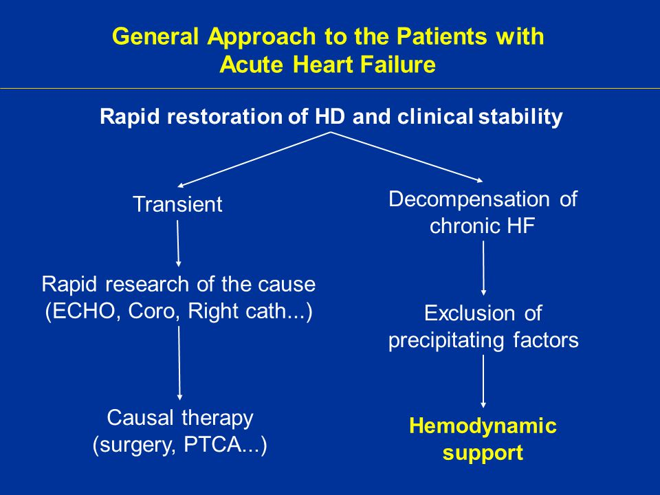General Approach to the Patients with Acute Heart Failure