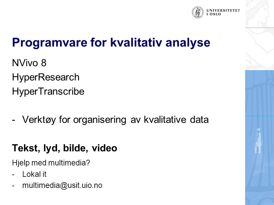 Programvare for kvalitativ analyse