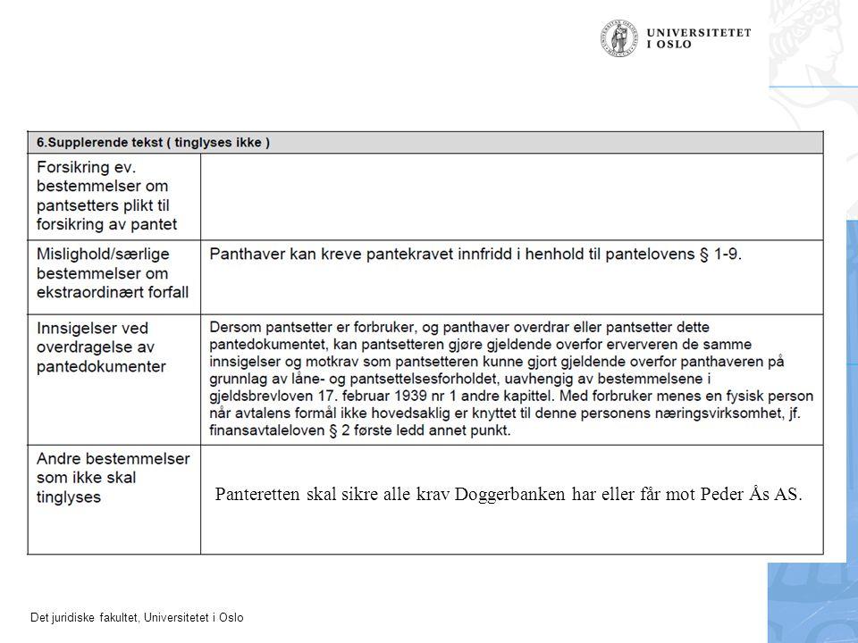 Panteretten skal sikre alle krav Doggerbanken har eller får mot Peder Ås AS.