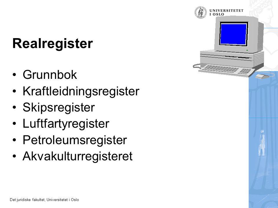 Realregister Grunnbok Kraftleidningsregister Skipsregister