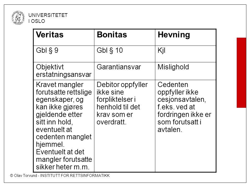 Veritas Bonitas Hevning Gbl § 9 Gbl § 10 Kjl