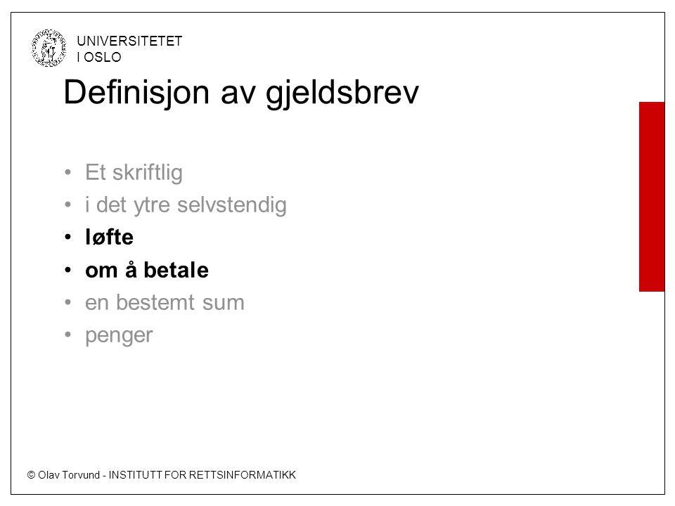 Definisjon av gjeldsbrev