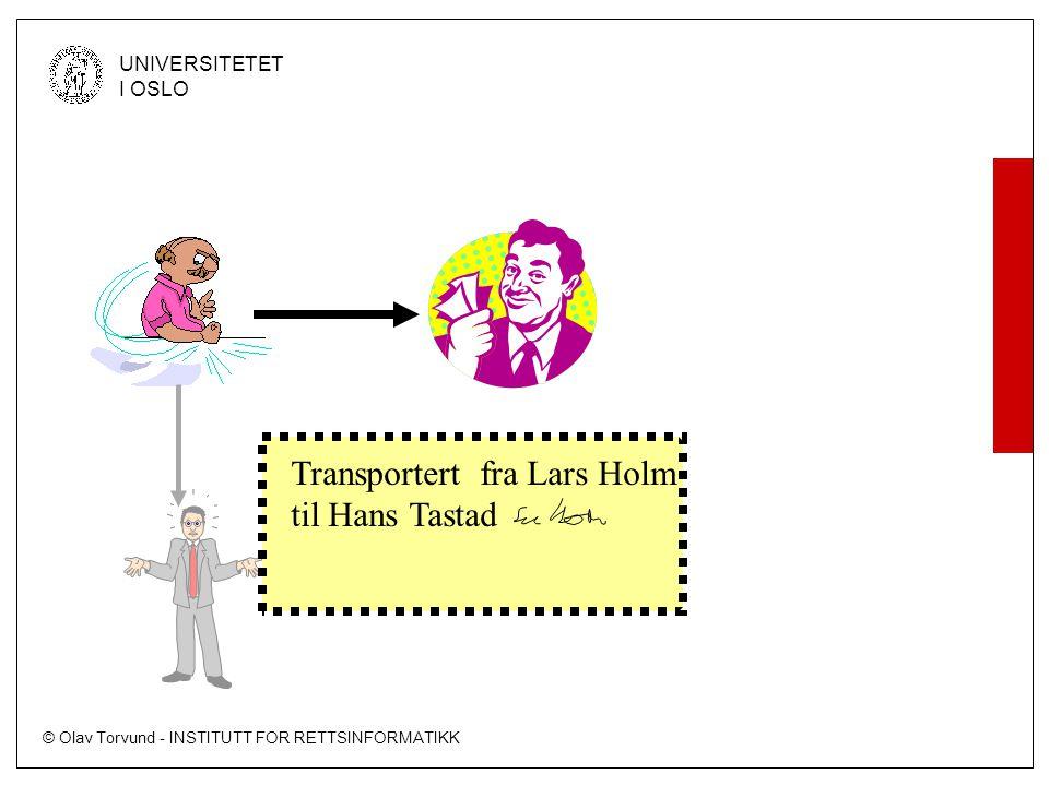 Transportert fra Lars Holm