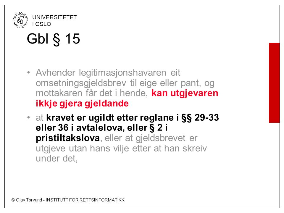 Gbl § 15