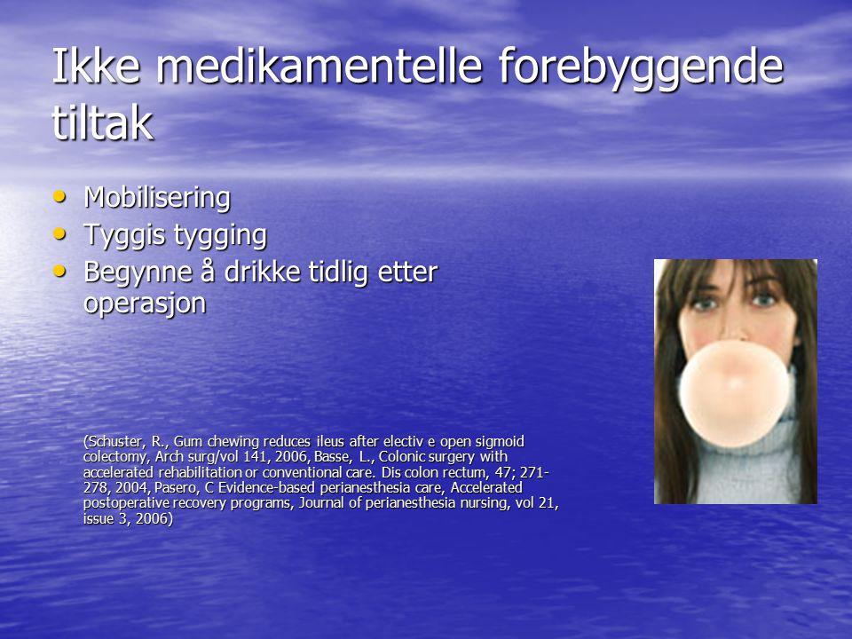 Ikke medikamentelle forebyggende tiltak