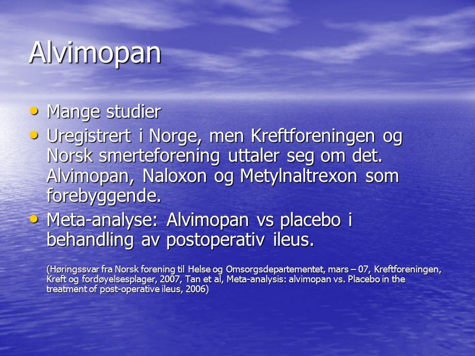 Alvimopan Mange studier