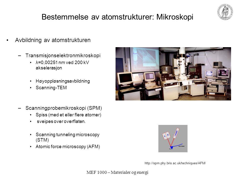 Bestemmelse av atomstrukturer: Mikroskopi