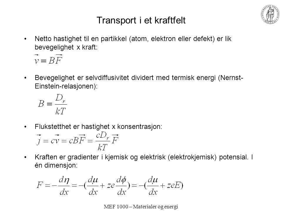 Transport i et kraftfelt