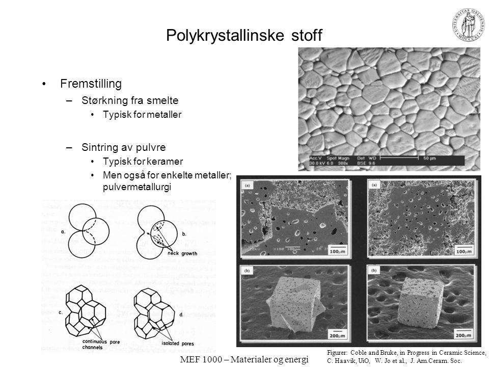 Polykrystallinske stoff