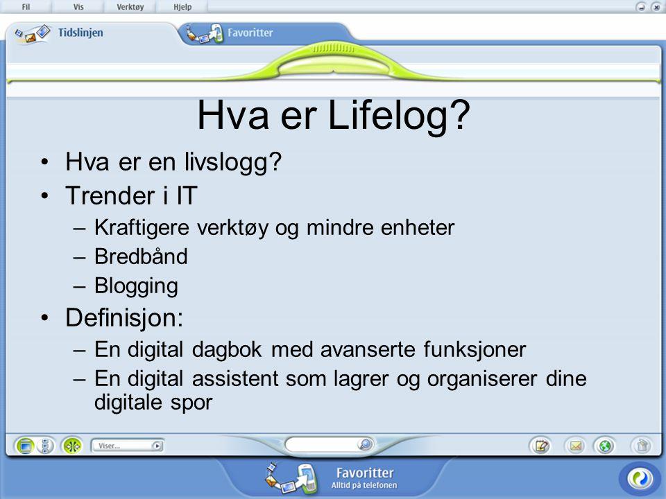 Hva er Lifelog Hva er en livslogg Trender i IT Definisjon: