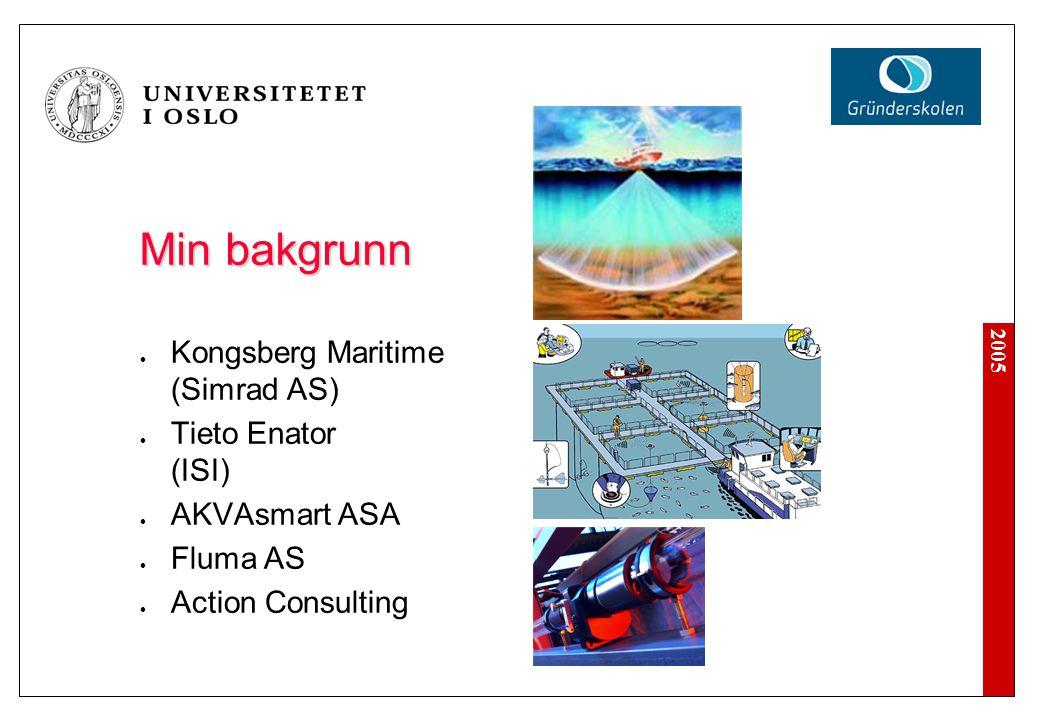 Min bakgrunn Kongsberg Maritime (Simrad AS) Tieto Enator (ISI)