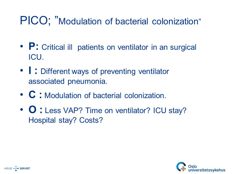 PICO; Modulation of bacterial colonization