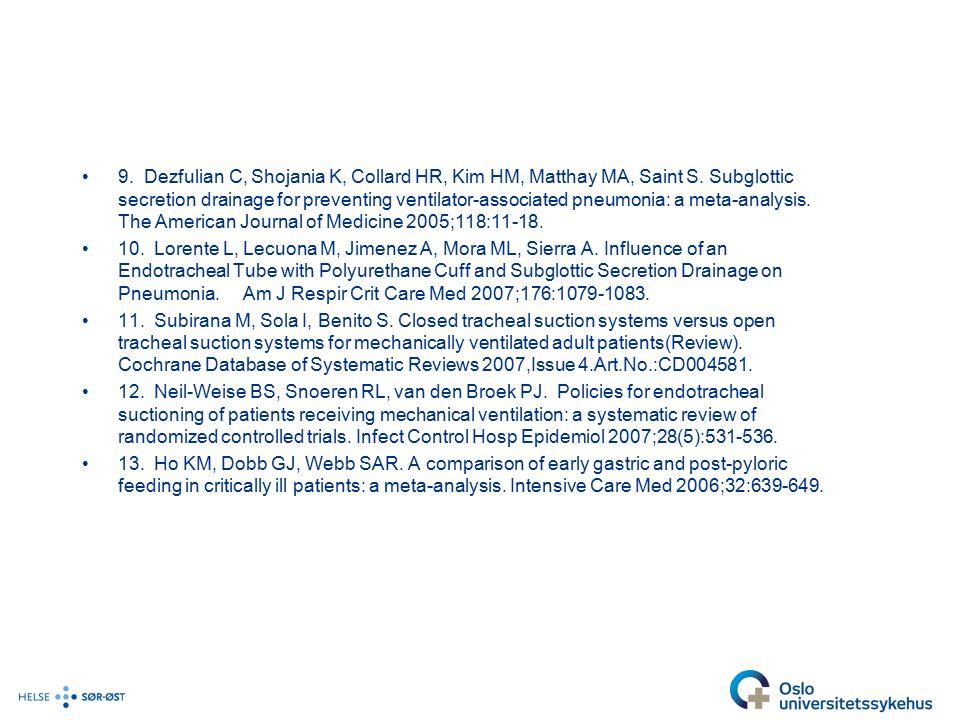 9. Dezfulian C, Shojania K, Collard HR, Kim HM, Matthay MA, Saint S