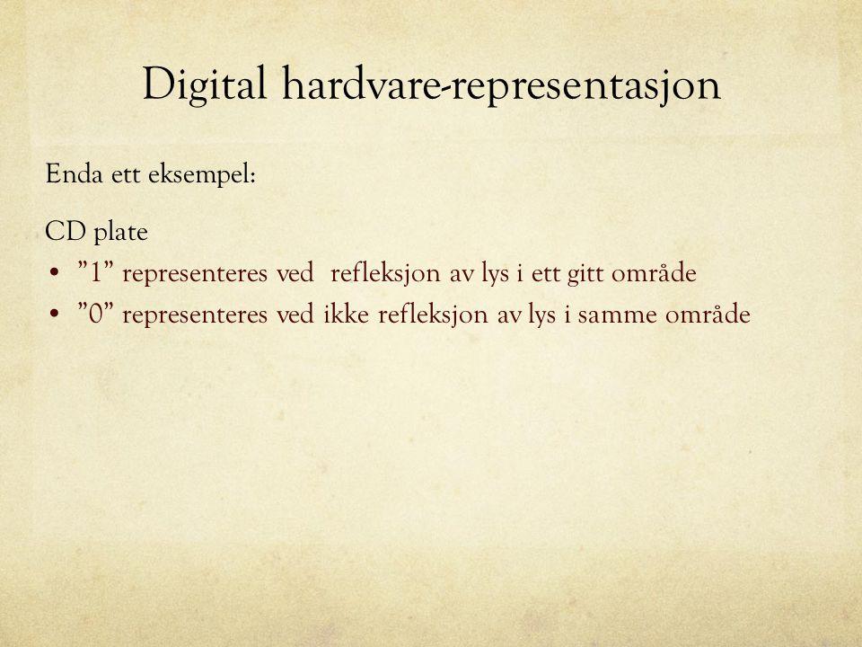 Digital hardvare-representasjon
