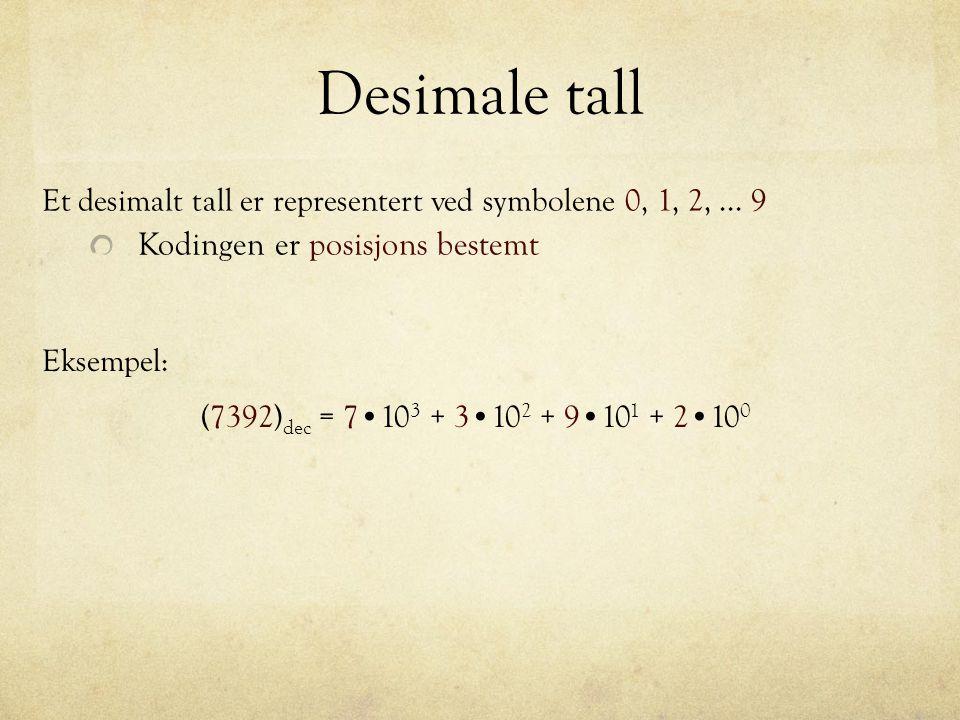 Desimale tall Kodingen er posisjons bestemt