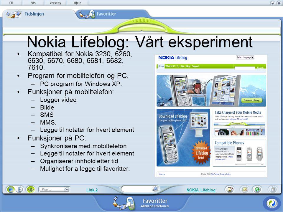 Nokia Lifeblog: Vårt eksperiment