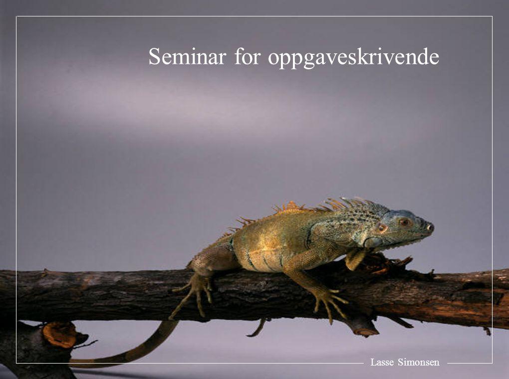 Seminar for oppgaveskrivende