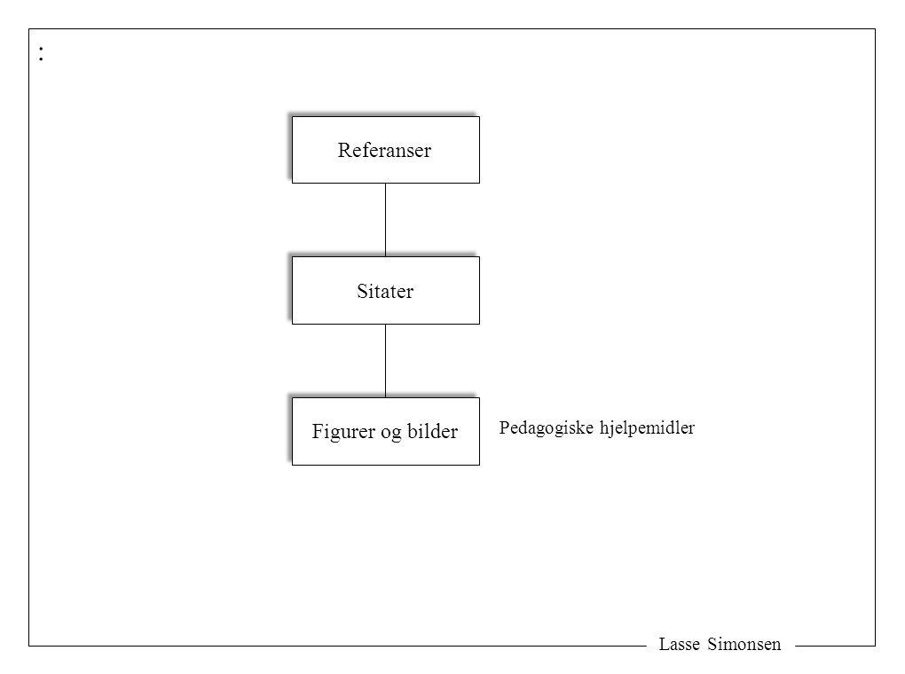 : Referanser Sitater Figurer og bilder Pedagogiske hjelpemidler