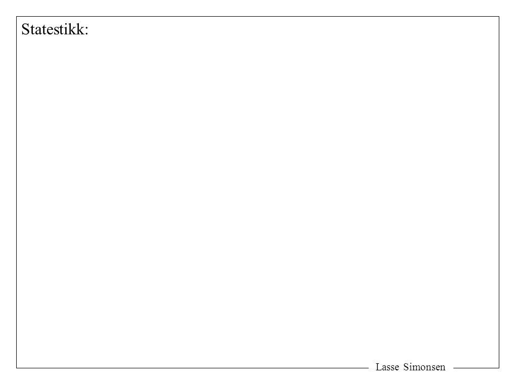 Statestikk: Lasse Simonsen