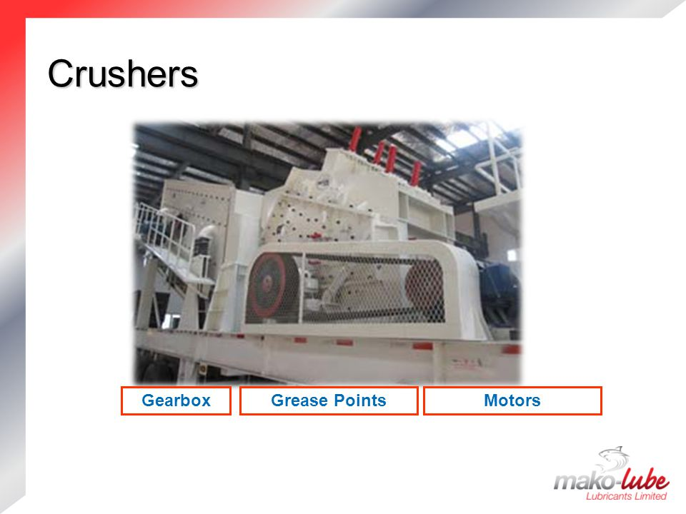 Crushers Gearbox Grease Points Motors