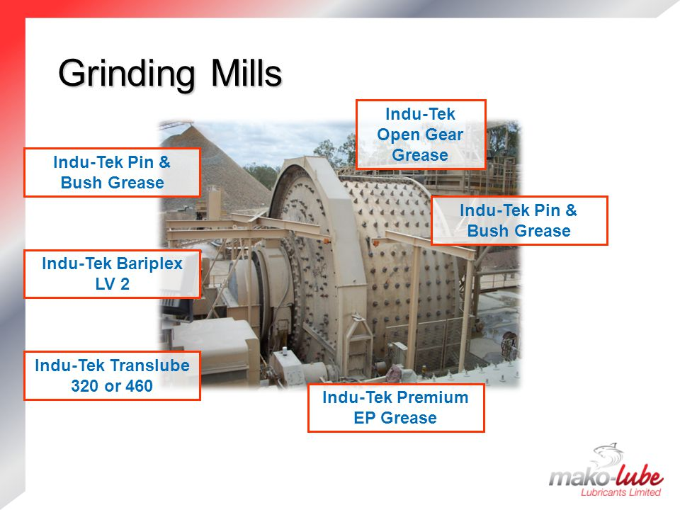Grinding Mills Indu-Tek Open Gear Grease Indu-Tek Pin & Bush Grease