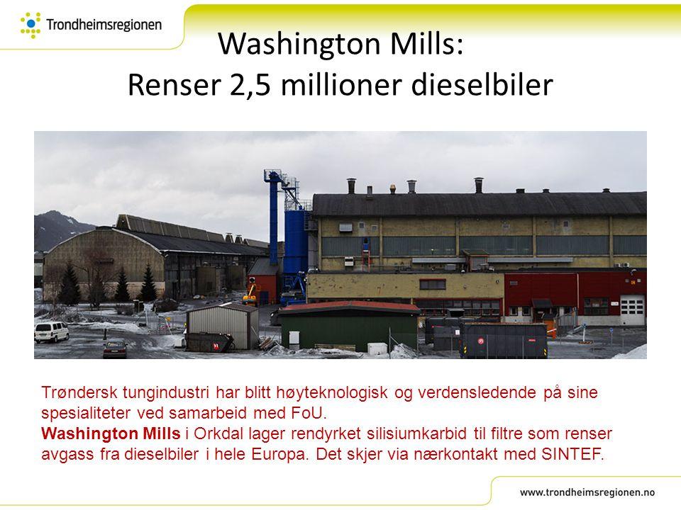 Washington Mills: Renser 2,5 millioner dieselbiler
