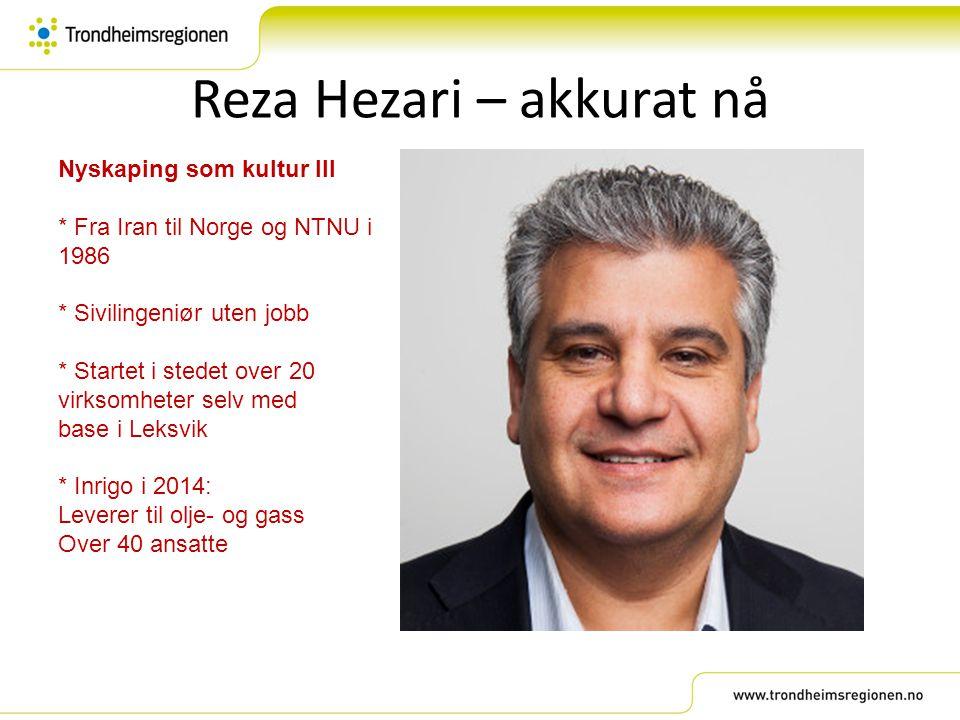 Reza Hezari – akkurat nå