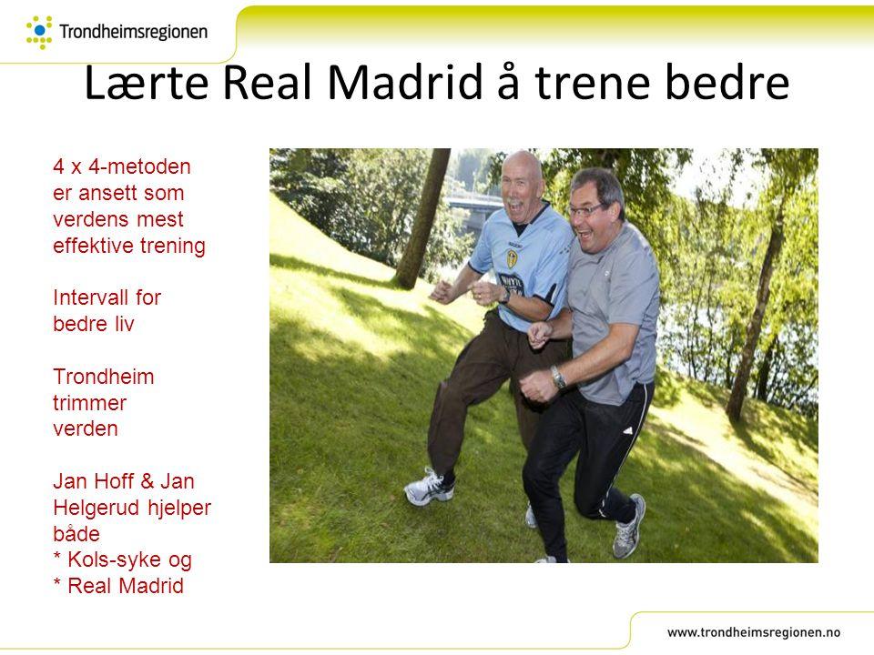 Lærte Real Madrid å trene bedre