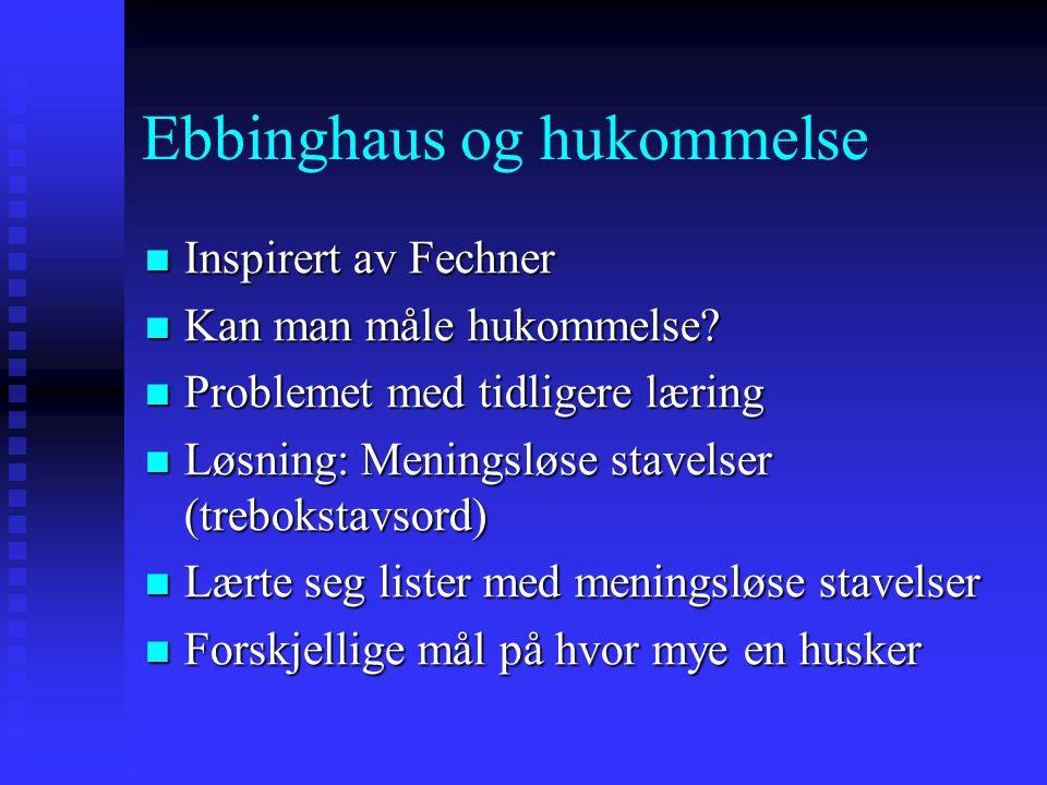 Ebbinghaus og hukommelse
