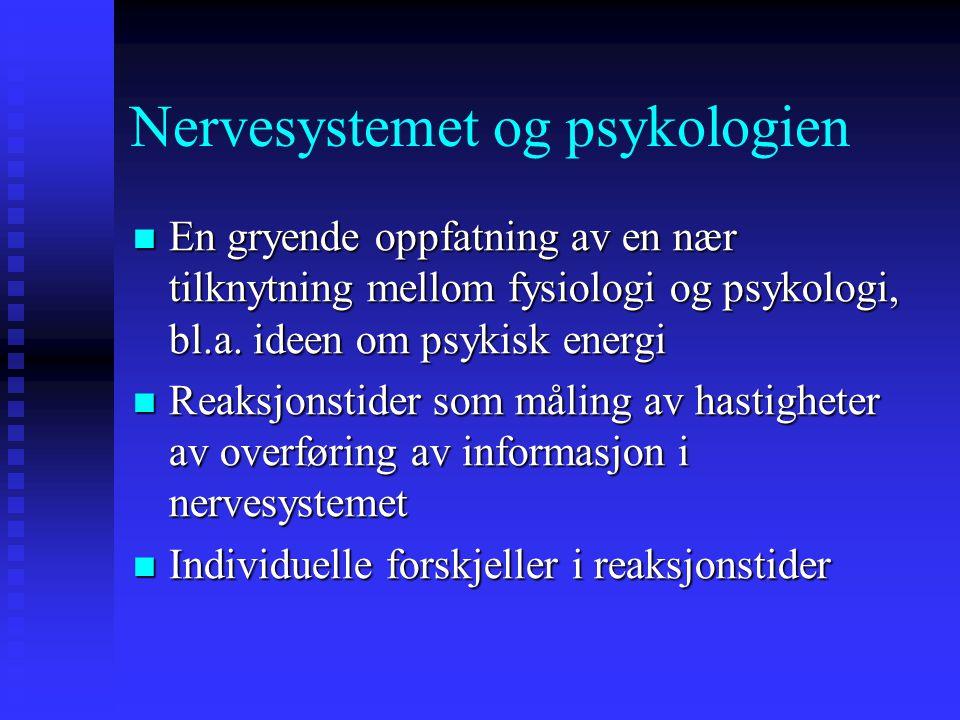 Nervesystemet og psykologien