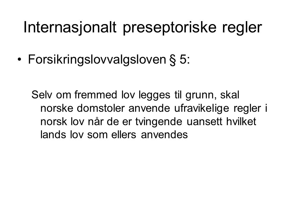 Internasjonalt preseptoriske regler