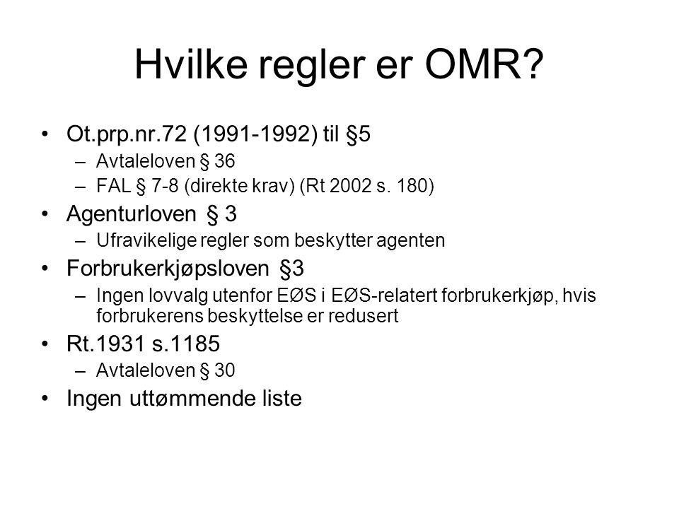 Hvilke regler er OMR Ot.prp.nr.72 (1991-1992) til §5 Agenturloven § 3