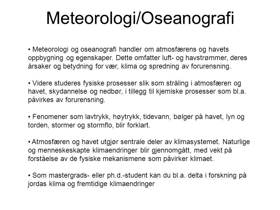 Meteorologi/Oseanografi