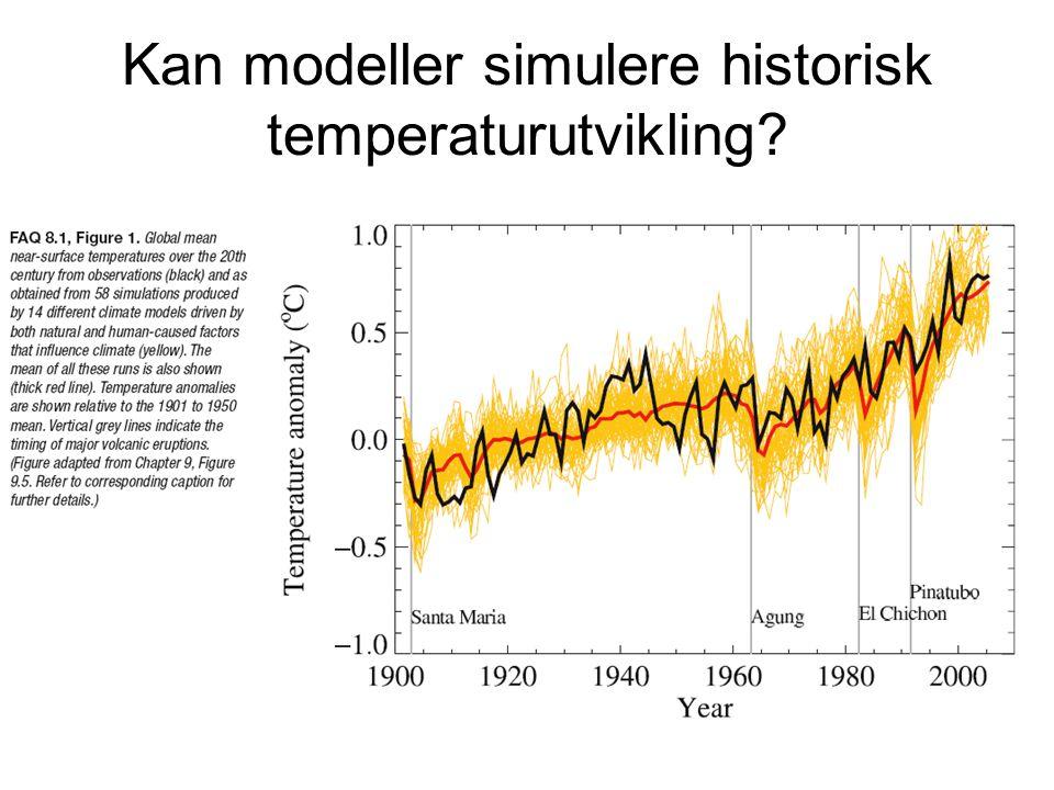 Kan modeller simulere historisk temperaturutvikling