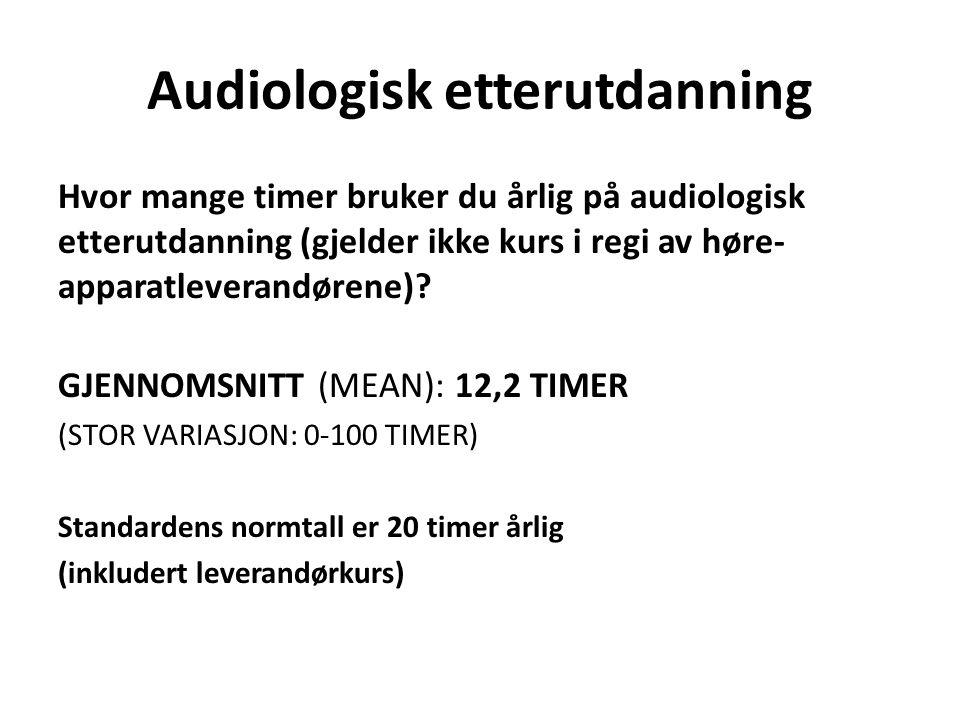 Audiologisk etterutdanning