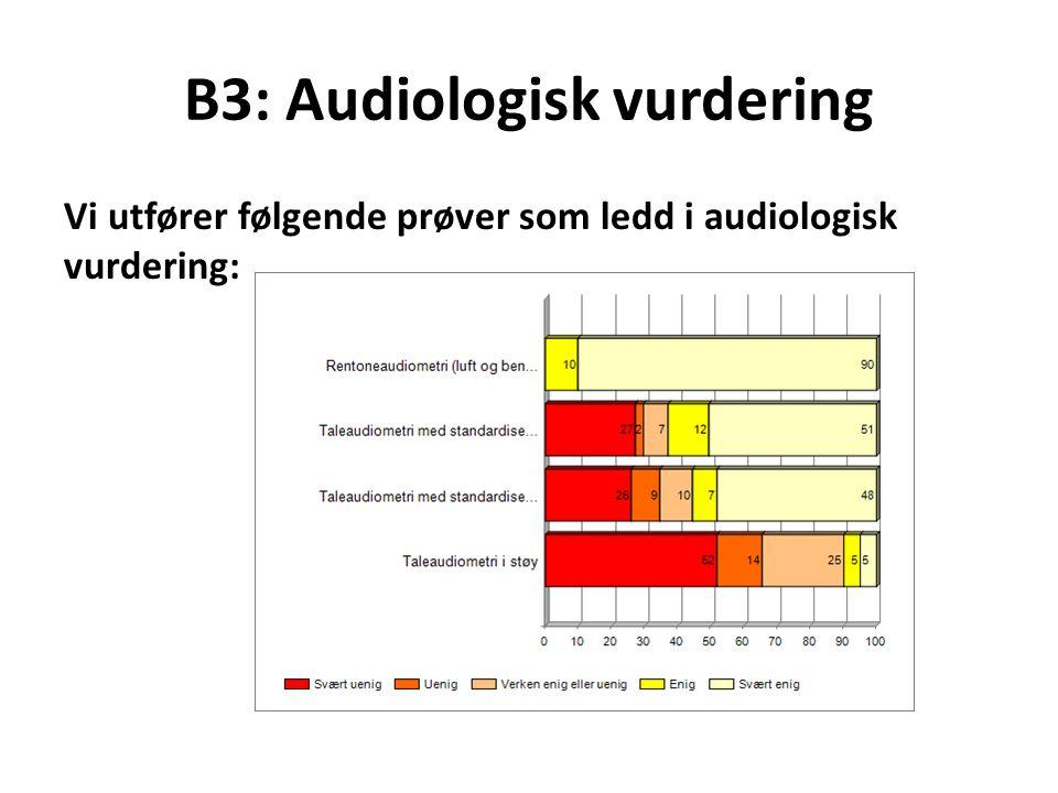 B3: Audiologisk vurdering