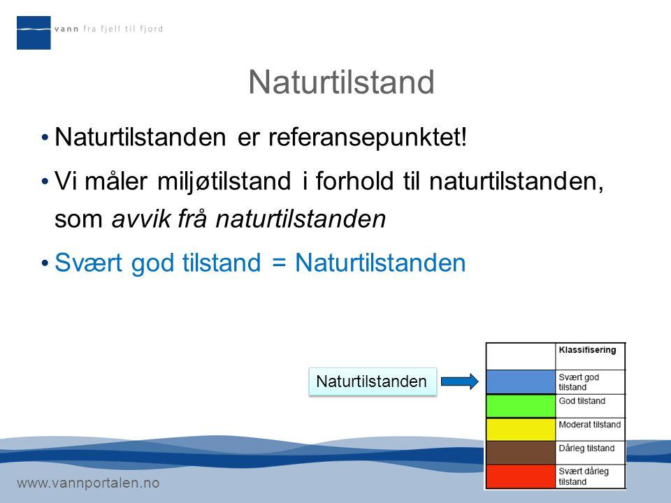 Naturtilstand Naturtilstanden er referansepunktet!