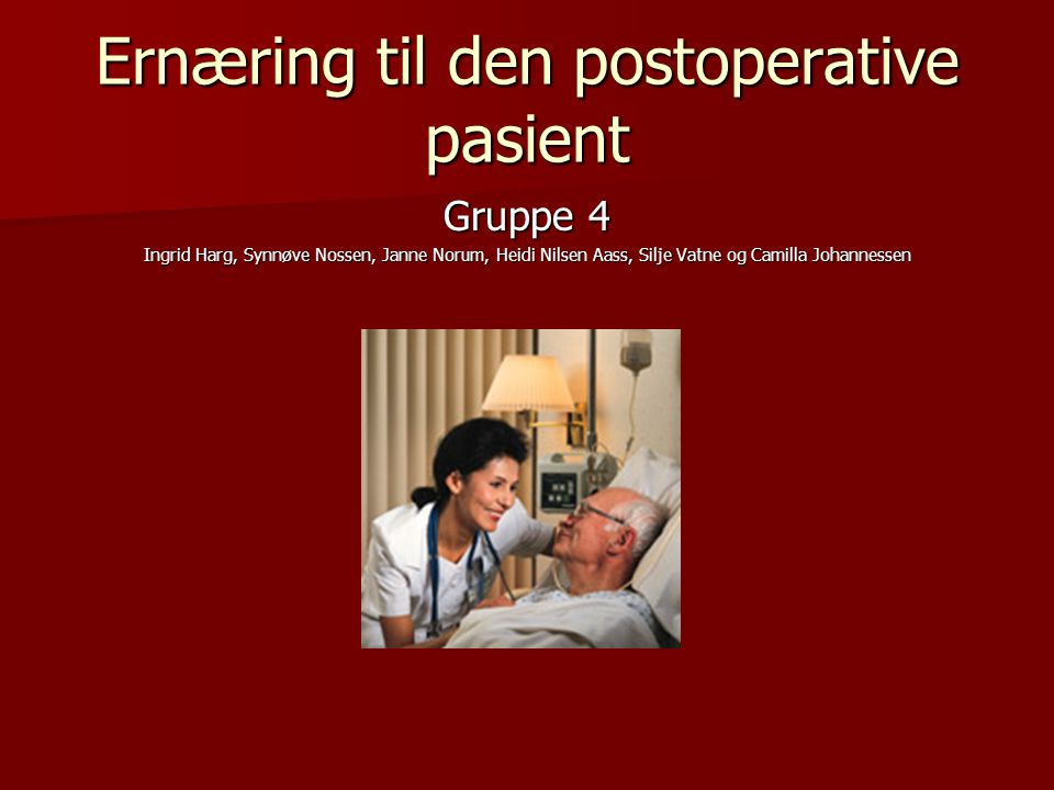 Ernæring til den postoperative pasient