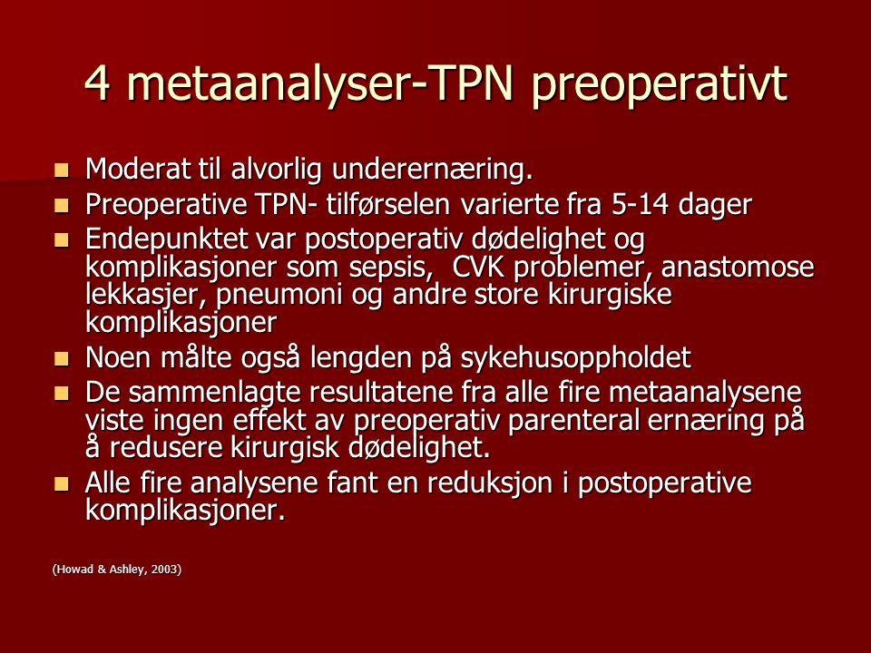 4 metaanalyser-TPN preoperativt