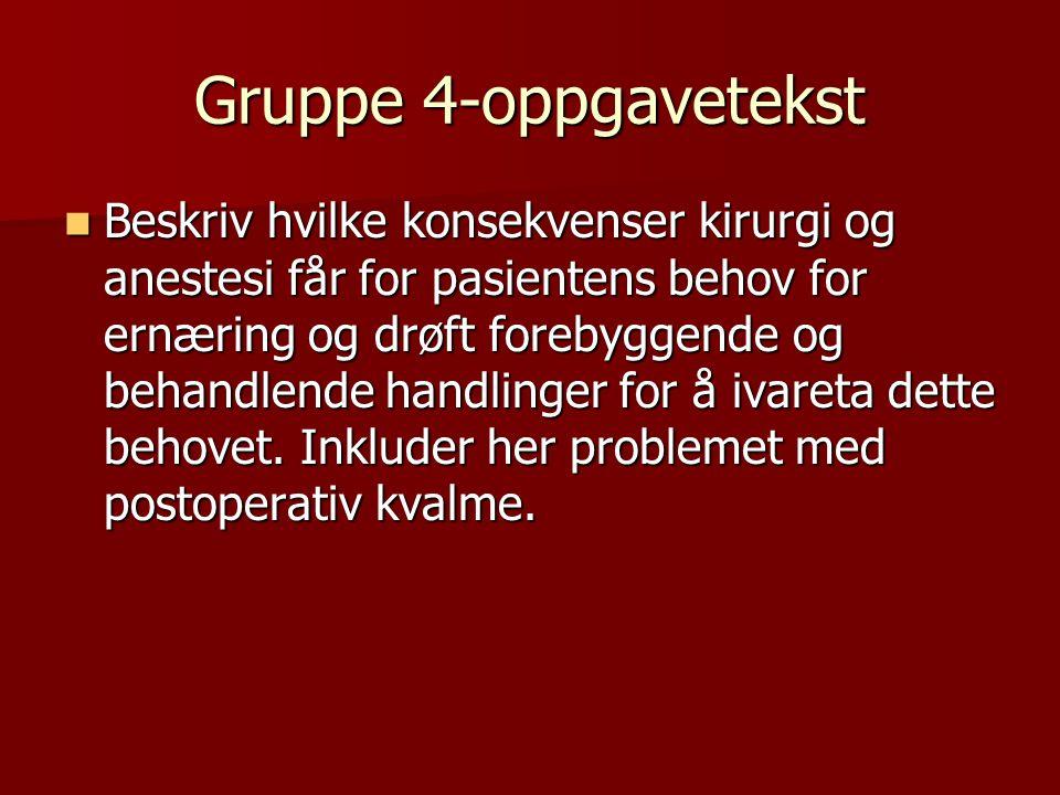 Gruppe 4-oppgavetekst