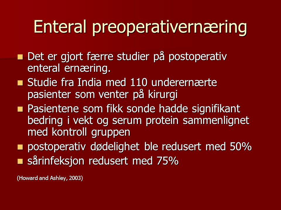 Enteral preoperativernæring